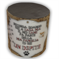 Dog Tablet  Pouf cilindro