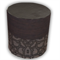 Wenge and Gothic Pouf cilindro