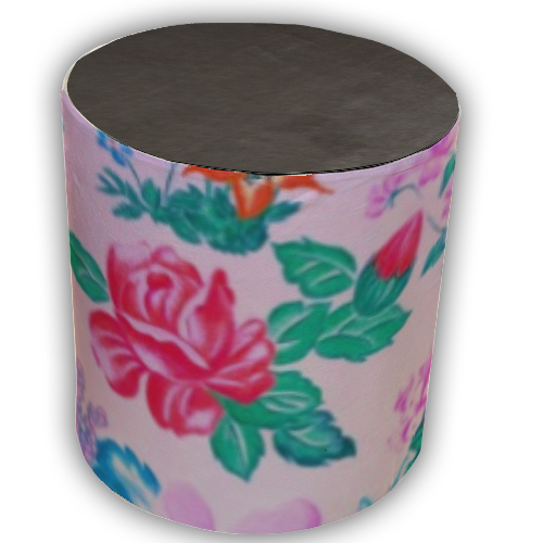 Flowers Pouf cilindro