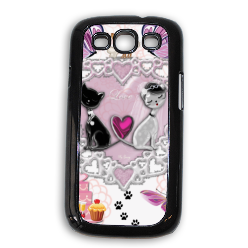 Sweet Love with Dog Cover Samsung Galaxy SIII