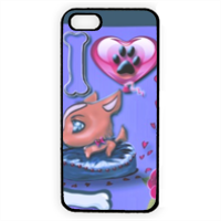 I Love Dog Blu Cover iPhone 5