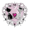 Weddings Cats Orologio con foto