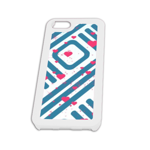 Cuori con sfondo astratto Cover iPhone5 Fashion