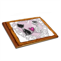 Weddings Cats Album copertina in legno 20x15