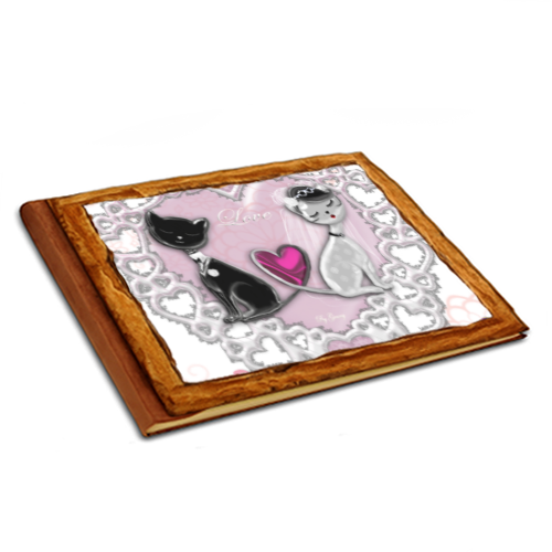 Sweet Love with Dog Album copertina in legno 20x15