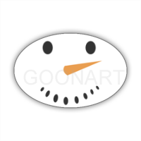 Natale: Pupazzo d... - Stickers ovale
