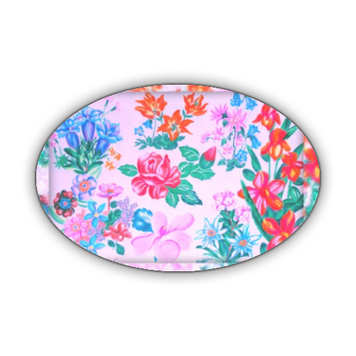 Flowers Stickers ovale