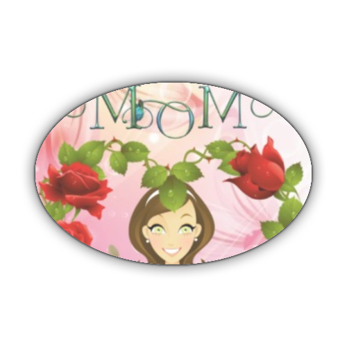 Best Mom Stickers ovale