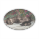 Cute kitten Stickers ovale