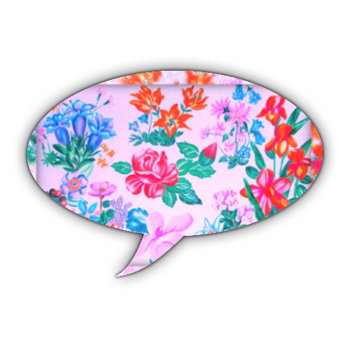 Flowers Stickers fumetto