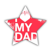 I Love My Dad - Stickers stella