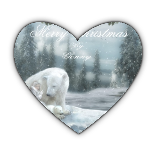 Merry Christams Stickers cuore