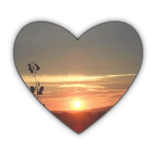 Tramonto in Toscana Stickers cuore