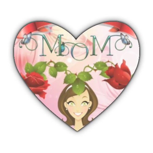 Best Mom Stickers cuore