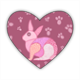 rabbit Stickers cuore