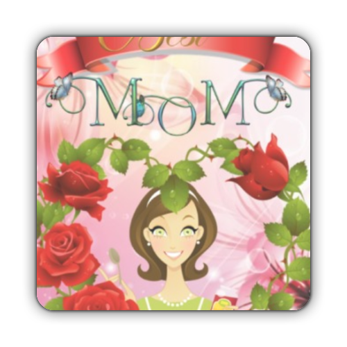 Best Mom Stickers quadrato
