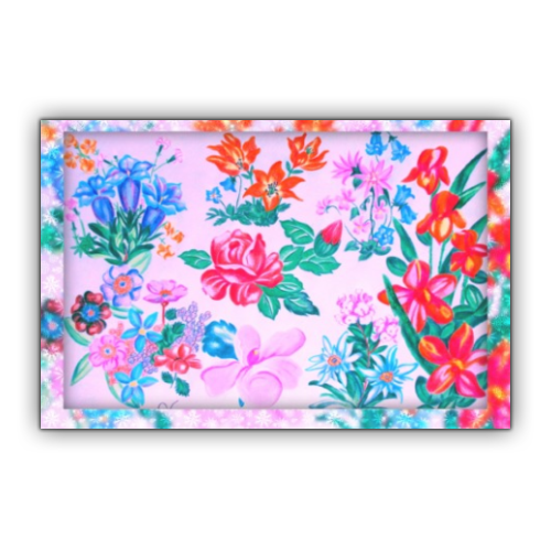 Flowers Stickers rettangolo