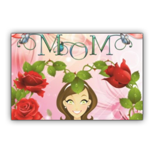 Best Mom Stickers rettangolo