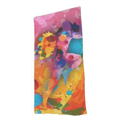 telo mare con stampa colorata