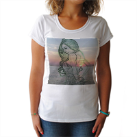anima la  parte interiore T-shirt donna