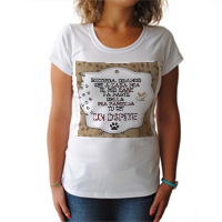 Dog Tablet  T-shirt donna