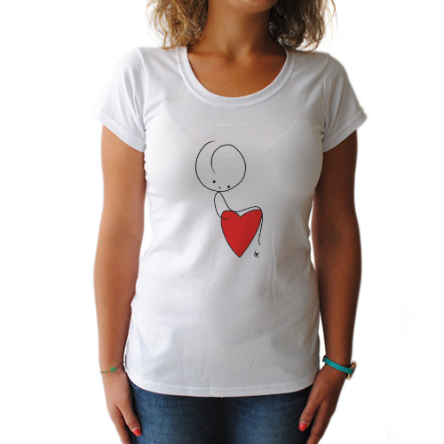 SIT ON THE HEART T-shirt donna
