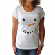 Natale: Pupazzo di neve T-shirt donna