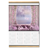 Enchanted Lake Calendario su arazzo A3