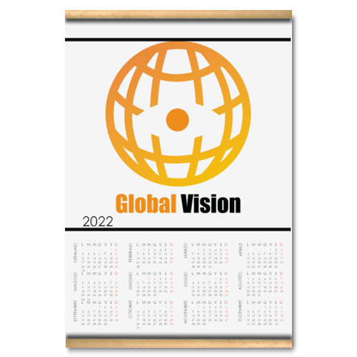 Global vision Calendario su arazzo A3