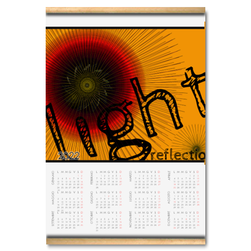 light reflections Calendario su arazzo A3