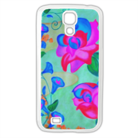 Blue Flowers Cover Samsung Galaxy S4
