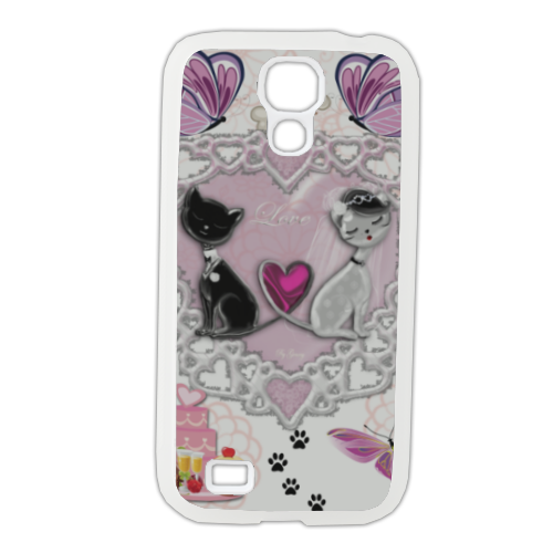 Sweet Love with Dog Cover Samsung Galaxy S4 gomma
