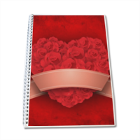 Cuore di fiori - Block Notes A4