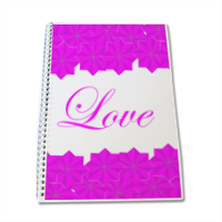 Roseventi Love Block Notes A4
