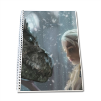 Daenerys with Dragon  Block Notes A4