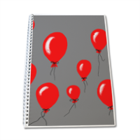 red baloons Block Notes A4