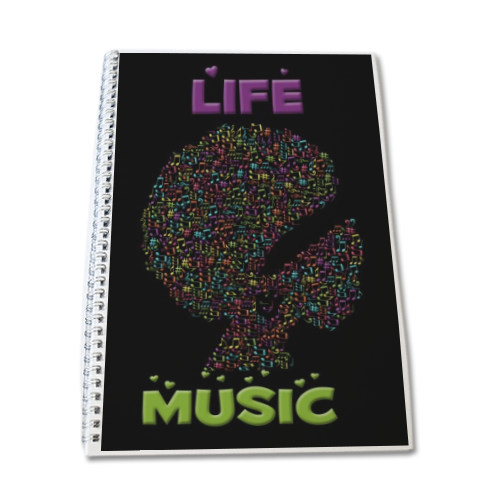 Life is Music Block Notes A4