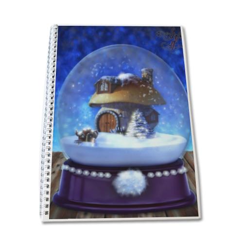 Globo di Neve Fantasy Block Notes A4
