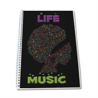 Life is Music Quaderno A4