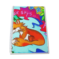 The Fox says  Quaderno A4