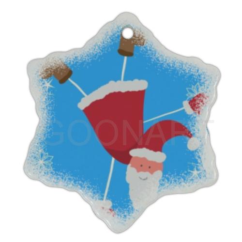 Decorazione natalizia in ceramica con foto e grafiche