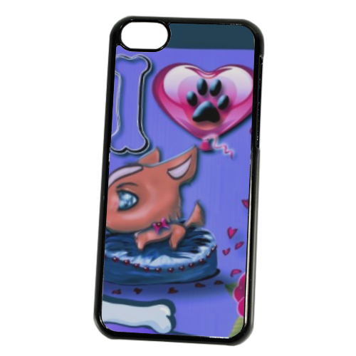 I Love Dog Blu Cover iPhone 5C
