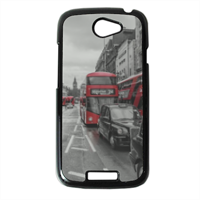 London red and white Cover HTC One S