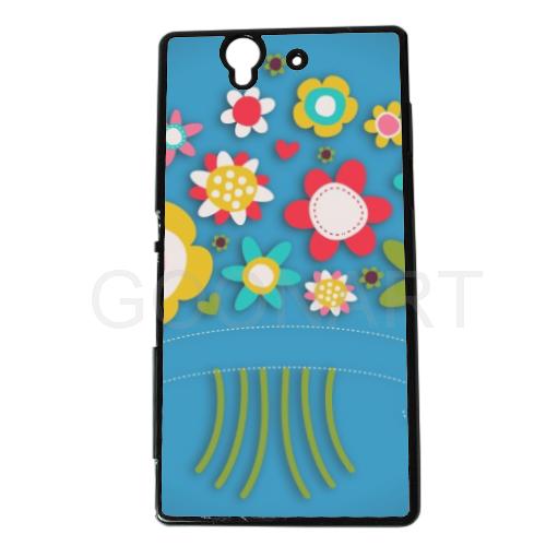 cover smartphone con fiori