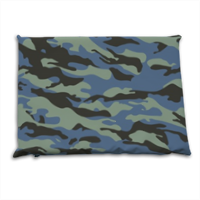 Blue camouflage  Cuscino mare