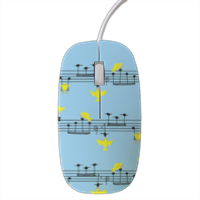 uccellini e note musicali Mouse stampa 3D
