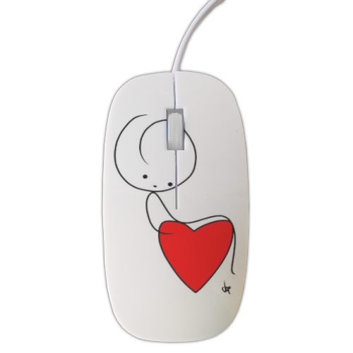SIT ON THE HEART Mouse stampa 3D