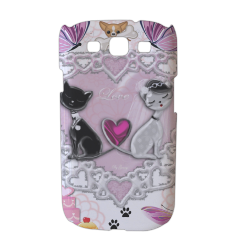 Sweet Love with Dog Cover Samsung galaxy s3 stampa 3D