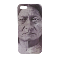 Sitting Bull warrior Cover iPhone5 stampa 3D