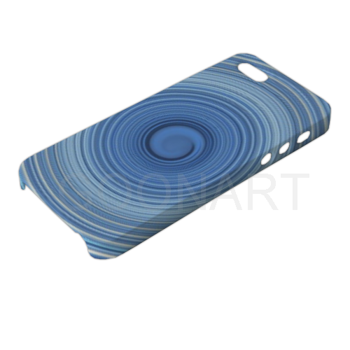 cover 3D spirale blu per iPhone 5